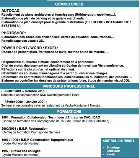 Forme De Cv 2016 by Correction Cv Dessinateur Chef De Projet