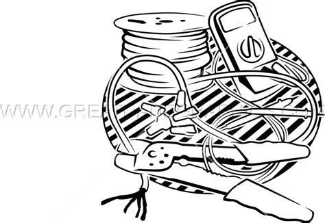 11271 electrician clipart black and white electrician tools production ready artwork for t shirt