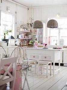 Shabby Chic Lampen : 44 tolle designs von shabby chic k che ~ Orissabook.com Haus und Dekorationen