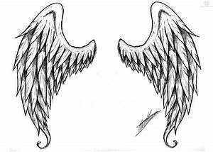 Angel wings clipart outline - ClipartFest