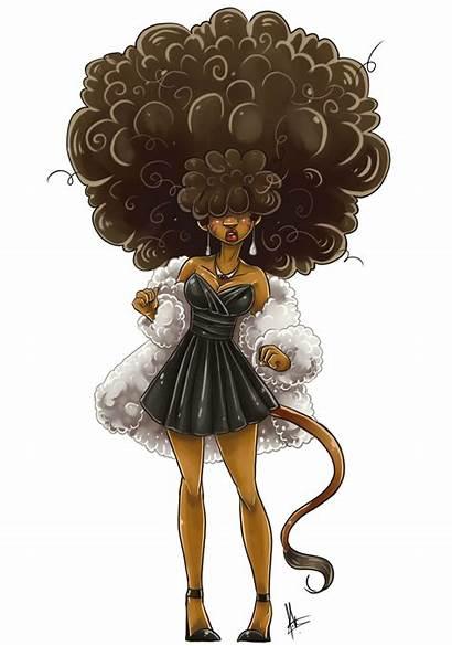 Afro Woman Elegant Hair Yuramec Silhouette Deviantart