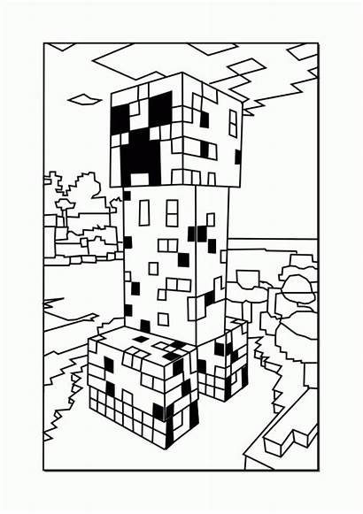 Coloring Minecraft Pages Printable Creeper