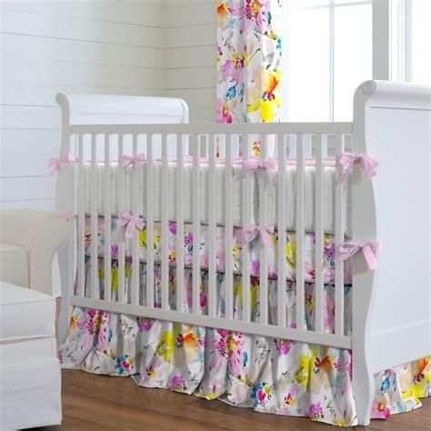 watercolor floral crib bedding carousel designs