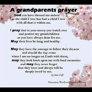 A Grandparent's Prayer | Grandparents and Grandchildren ...
