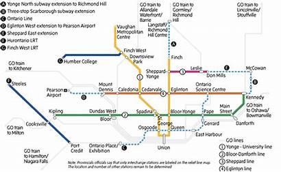 Ontario Line Toronto Transit Subway Plan Relief