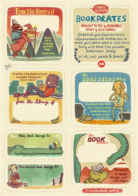 Free Printable Bookplates » Redbubble Blog