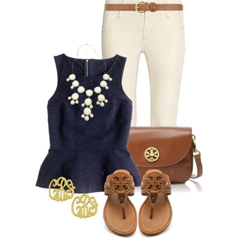 U0026quot;Perfectly Preppyu0026quot; by qtpiekelso on Polyvore | Dream Wardrobe | Pinterest | The outfit Peplum ...