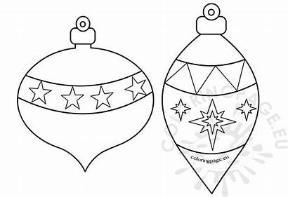 Ornaments Christmas Printable Coloring Ornament Tree Holiday