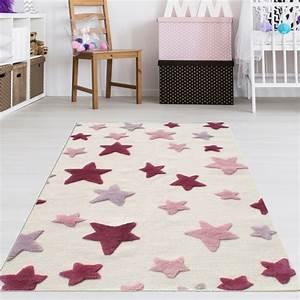 Teppich Kinderzimmer Mädchen : kinderzimmer teppich m dchen rosa sterne teppich4kids ~ Eleganceandgraceweddings.com Haus und Dekorationen