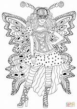 Coloring Carnival Butterfly Costume Pages Wearing Printable Drawing Gras Mardi Dot Games Paper Puzzle Crafts sketch template