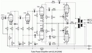 Free Circuit Diagrams  Tube Amplifier With Power 25 Watt