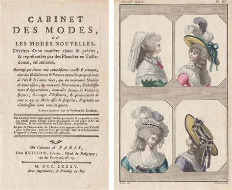 file page de titre du cabinet des modes 1785 gravure second cahier planche iii lecler