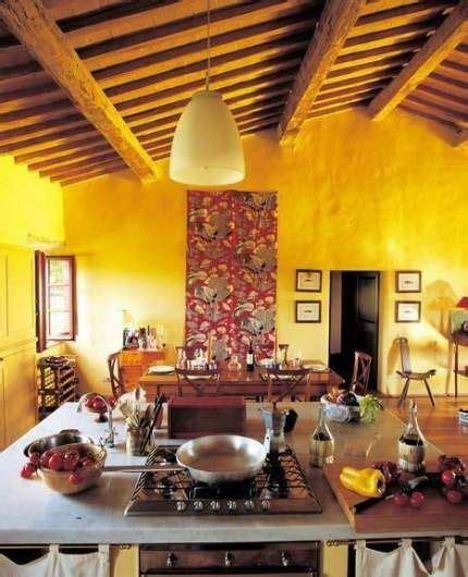 ideas  kitchen white beams chairs yellow kitchen