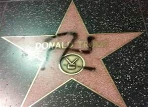 Donald Trump's Hollywood Walk Of Fame Star Tagged With Swastika ...
