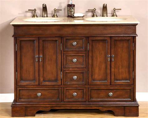 silkroad  double bathroom vanity travertine top ivory