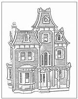 Coloring Pages Dollhouse Victorian Houses Doll Hill Adult Sheets Colouring Sheet Beacon Printable Print Colour Books Drawing Drawings Pdf Landscapes sketch template