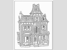 Victorian House Coloring Pages#288056