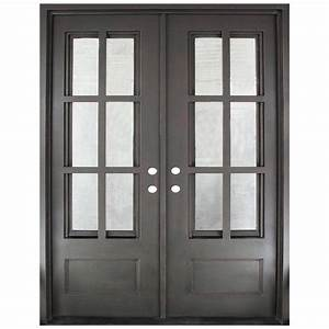iron doors unlimited 62 in x 815 in craftsman classic With bronze entry doors
