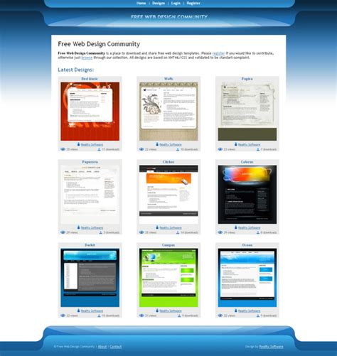 free website design free web design community reality software