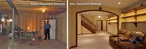 Before and after basement unfinished basement ideas for Unfinished basement before and after