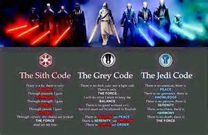 Official Grey Jedi Sith and Jedi Codes