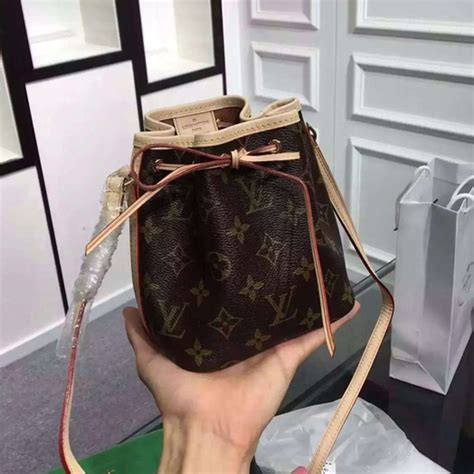 louis vuitton  nano noe shoulder bag monogram canvas