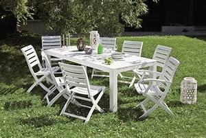 Salon De Jardin Blanc : salon de jardin bois blanc id es de d coration int rieure french decor ~ Teatrodelosmanantiales.com Idées de Décoration