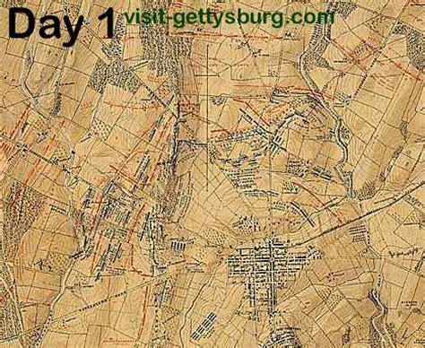 battle  gettysburg map days   visit gettysburg