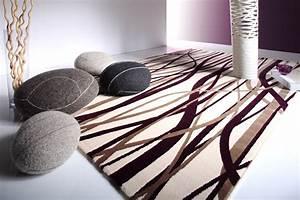 Tapis pas cher design et contemporain grand tapis salon moderne