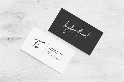 Handwriting Style Business Card Design Ai Template Free Download Artist Case App Contacts Tattoo Designs Library Archive Avery Photoshop Store