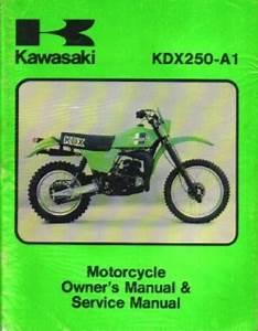 1980 Kawasaki Kdx250a1 Motorcycle Owners Service Manual