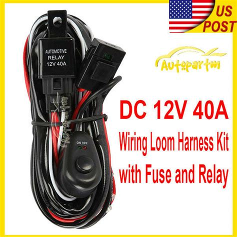Universal Wiring Kit Fog Light Driving Lamp Harness