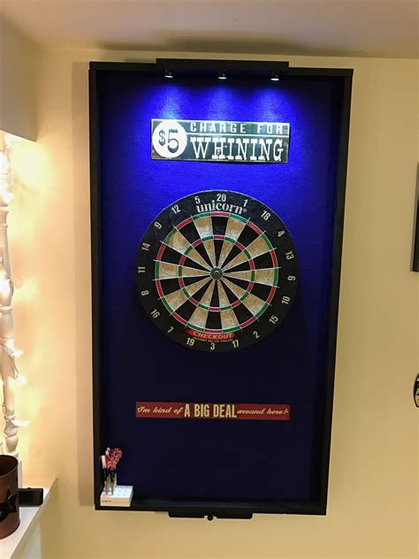 dart board surround project  lights  laser toe