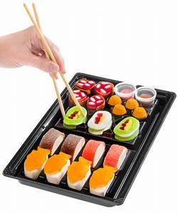 Candy Sushi: A tray of colorful candy shaped like sushi