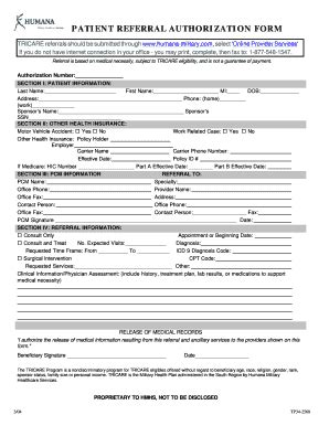humana medicaid family referral form fill printable fillable blank pdffiller