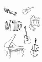 Instruments Musical Coloring Instrument Printable Coloringtop Flute Adults Notes sketch template