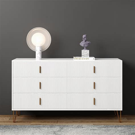 white accent cabinet   drawers modern buffet cabinet