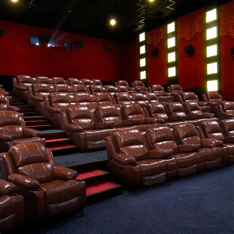 brown leather  theater recliner chairs