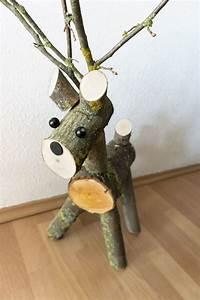 Sichtzäune Aus Holz : selbstgebasteltes diy rentier aus holz weihnachten ~ Watch28wear.com Haus und Dekorationen