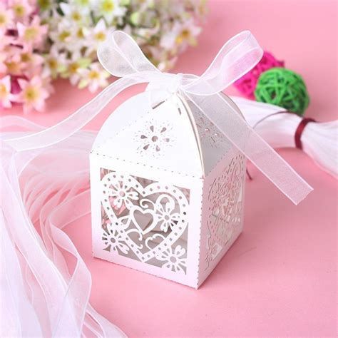 buy love heart laser cut candy gift boxes
