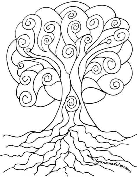 tree mandala coloring pages sketch coloring page