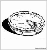 Pie Pumpkin Baked Pages Coloring Freshly Pan Print sketch template