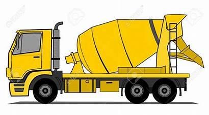 Cement Mixer Truck Concrete Clipart Clip Construction