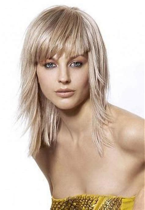 medium layered haircuts  bangs