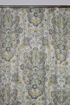 custom linen fabric shower curtain high end covington