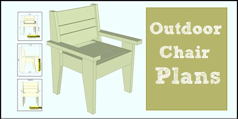 outdoor chair plans easy  build   construct