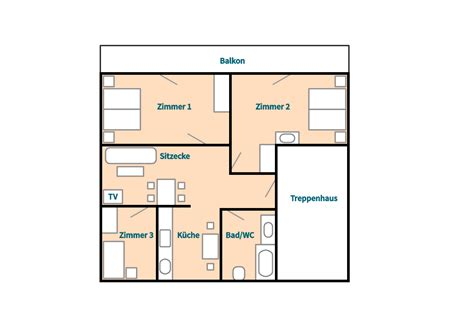 home floor plan top floor apartment chalet bergtreu zermatt