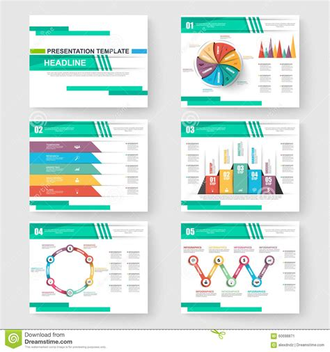 free slide templates set of presentation slide templates powerpoint stock vector illustration of company info