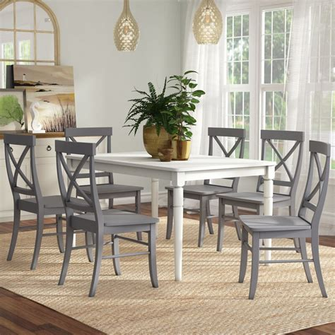 dining piece sets chairs brookwood wayfair beachcrest side candice uph rectangular extension ii room kitchen booth furniture seating wood within