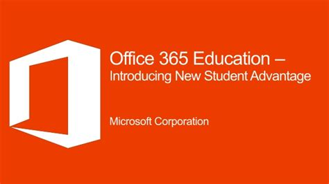 Office 365 Education Introducing New Student Advantage